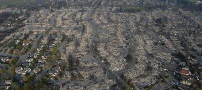 fire devastion in California